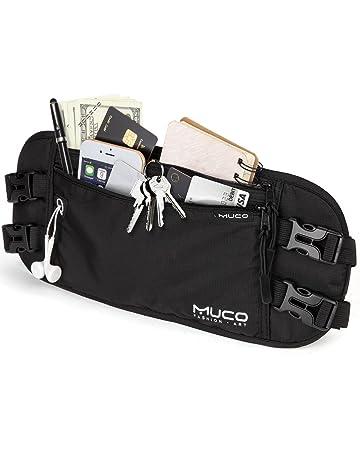 6713ae332a21 MUCO Ceinture de Voyage, Money Belt pour Passeports, Billets, Cartes de  Crédit,