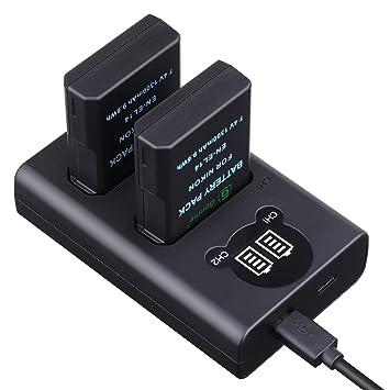 Gonine EN-EL14 - Cargador de batería para cámaras Nikon ...