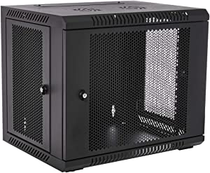 V7 RMWC9UV450-1N Rack Mount Wall Cabinet Enclosure 9U Vented