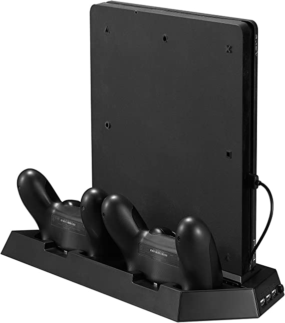 Younik PS4 Slim Ventilador vertical del soporte vertical con la ...