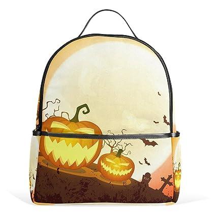 JSTEL Halloween Pumpkins Moonlight School Backpack 4th 5th 6th Grade for Boys  Teen Girls Kids  Amazon.co.uk  Clothing 89ed230ccff34