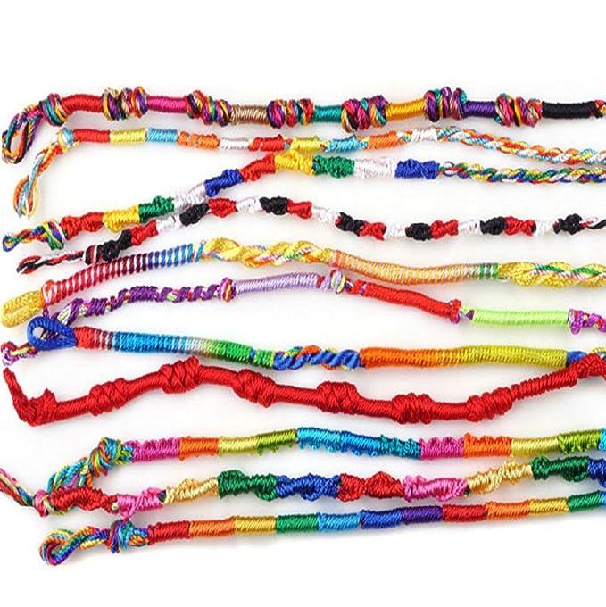 Vovotrade Lot Braid Strands Friendship Cords Handmade Bracelets Wristband (100pc) Z523S