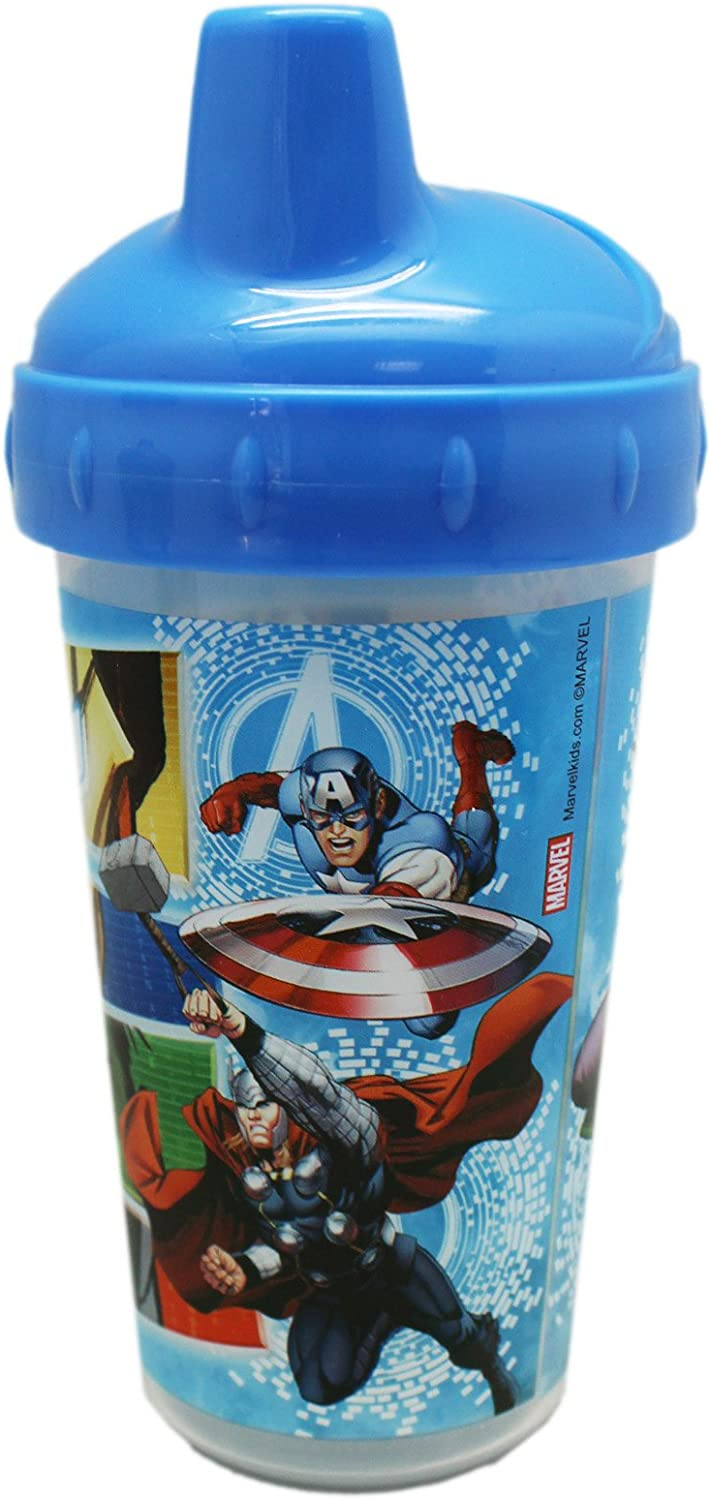 2pk Spill Proof Marvel Spiderman 10oz Sippy Cups Toddler Kids Boys BPA FREE NEW
