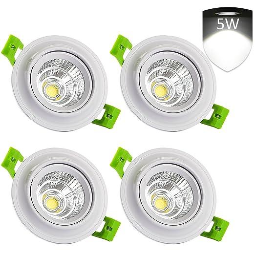 LEDMO 4 Pack 5W LED Ceiling Spotlights Recessed Ceiling Lights Bulbs Flush  Mount Downlights For
