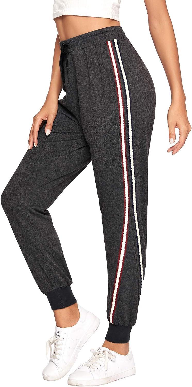 SweatyRocks Women's Causal Drawstring Waist Active Workout Long Yoga Pant with Pocket