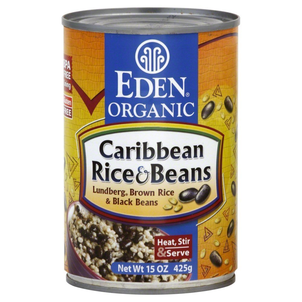 Eden Organic Caribbean Rice & Beans 15.0 OZ(Pack of 6)