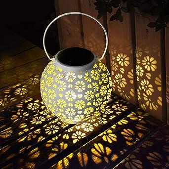 LED Luz Solar, Linterna Solar Exterior Colgando Jardín Farol Solar ...