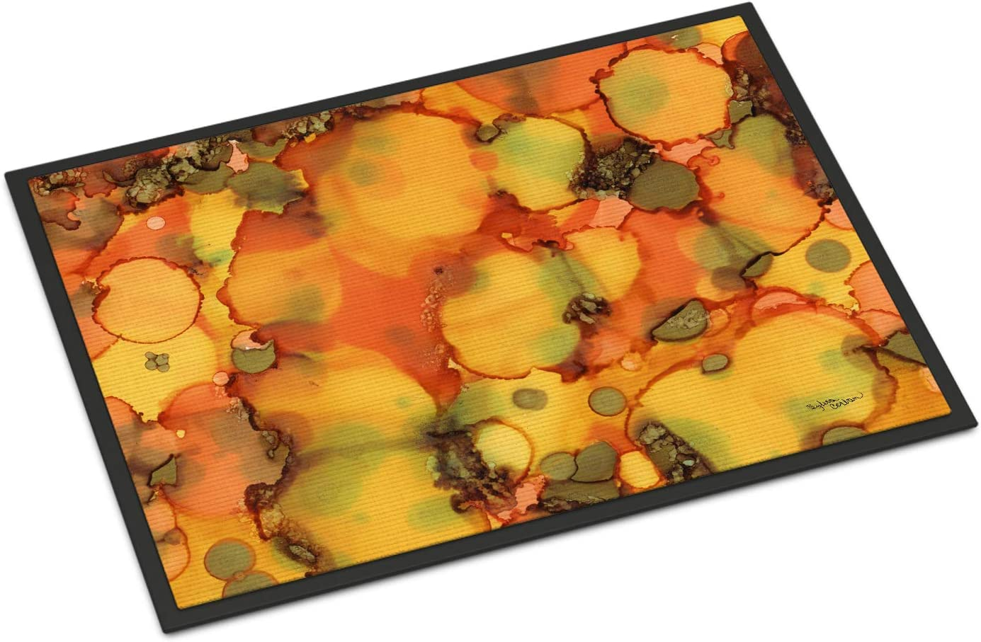 Caroline s Treasures 8976JMAT Abstract in Orange and Greens Indoor or Outdoor Mat 24×36, 24H X 36W, Multicolor