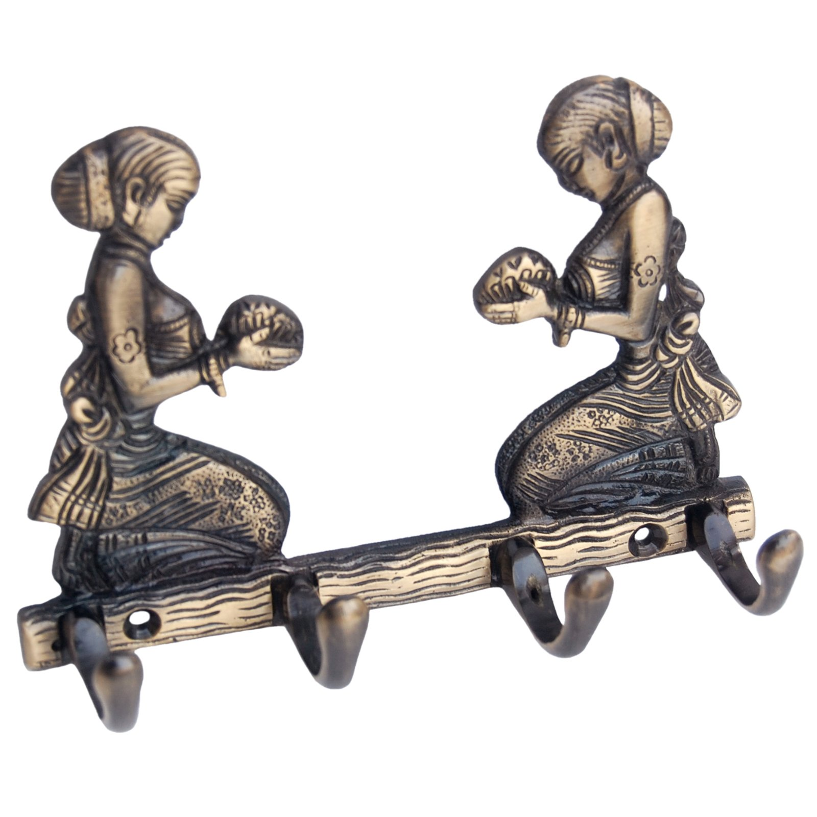 4 hook key holder with two welcome Lady for your valuble keys