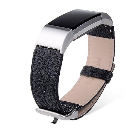 Amazon.com: Fitbit Charge 2 Band, Thankscase Piel Auténtica ...
