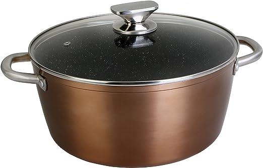 WeCook 10924 Cazuela de Cocina Inducción Profesional, Tapa de ...