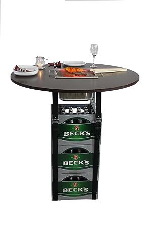 Rogge´s RelaxGrill Barbacoa Mesa Accesorio para Cajas de Cerveza con Acero Inoxidable Integrado Barbacoa