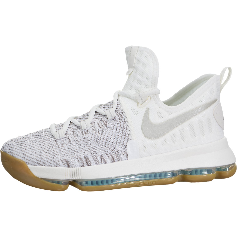 Nike Boys Zoom KD9 Big Kid Textured Basketball Shoes Pale Grey Ivory Pale  Grey 39464ca3e195