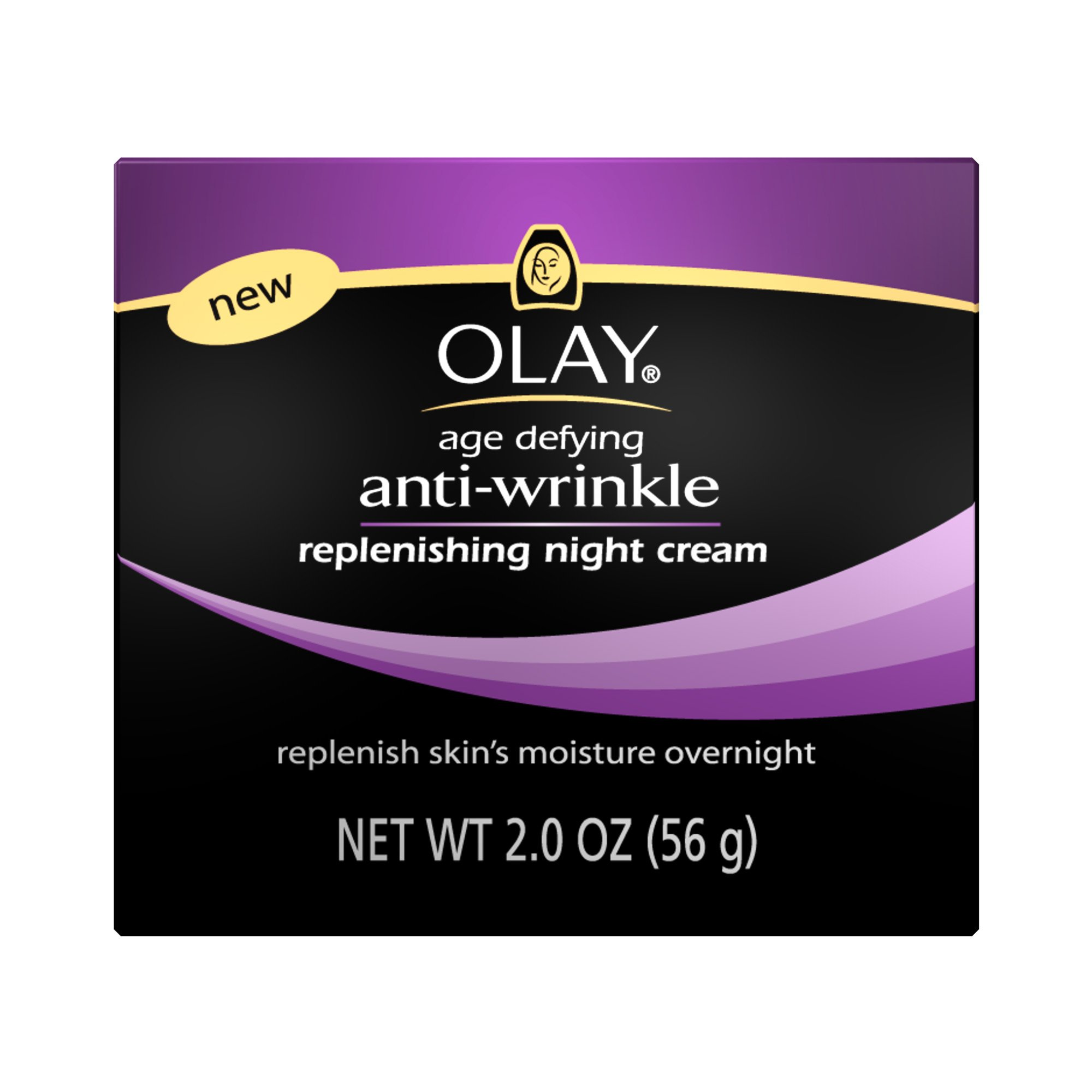 Olay Age Defying Anti-Wrinkle Night Cream, 2 Ounce (Pack of 2) by Olay