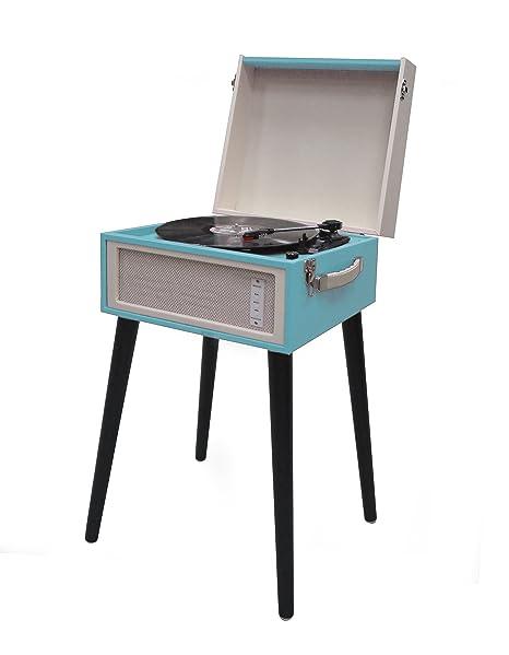 Akai r451s - Tocadiscos estilo vintage. Conversor de Vinilos a CD, Bluetooth, colores surtidos, 1 unidad