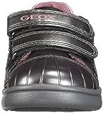 Geox DJ Rock Girl 11 Sparkly Velcro Sneaker, Dark