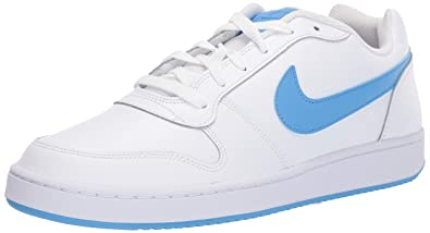 b82f8bc096f7 Nike Men s Ebernon Low Basketball Shoe White University Blue 7.5 Regular US