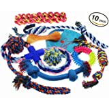 Lobeve Dog Toys 10 Pack Gift Set , Variety Pet Dogs Toy Set for Medium to Small Doggie