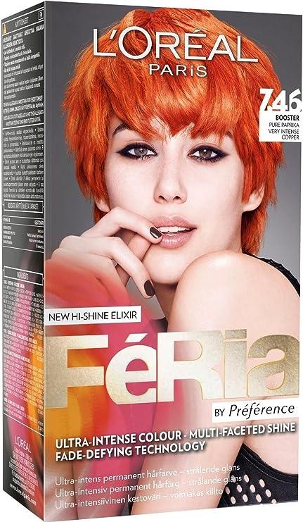 Loreal París Feria – 7.46 Pure naranja – Tinte para cabello colorante)