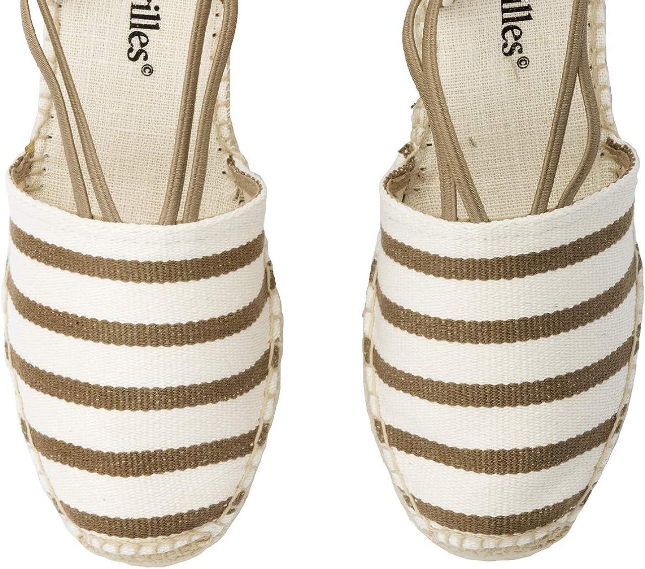 2 Espadrilles Alpargatas Sandalias Mujer Fabricadas a Mano en Espa/ña Espadrilles Esparto Zapato para Mujer Tac/ón Marina