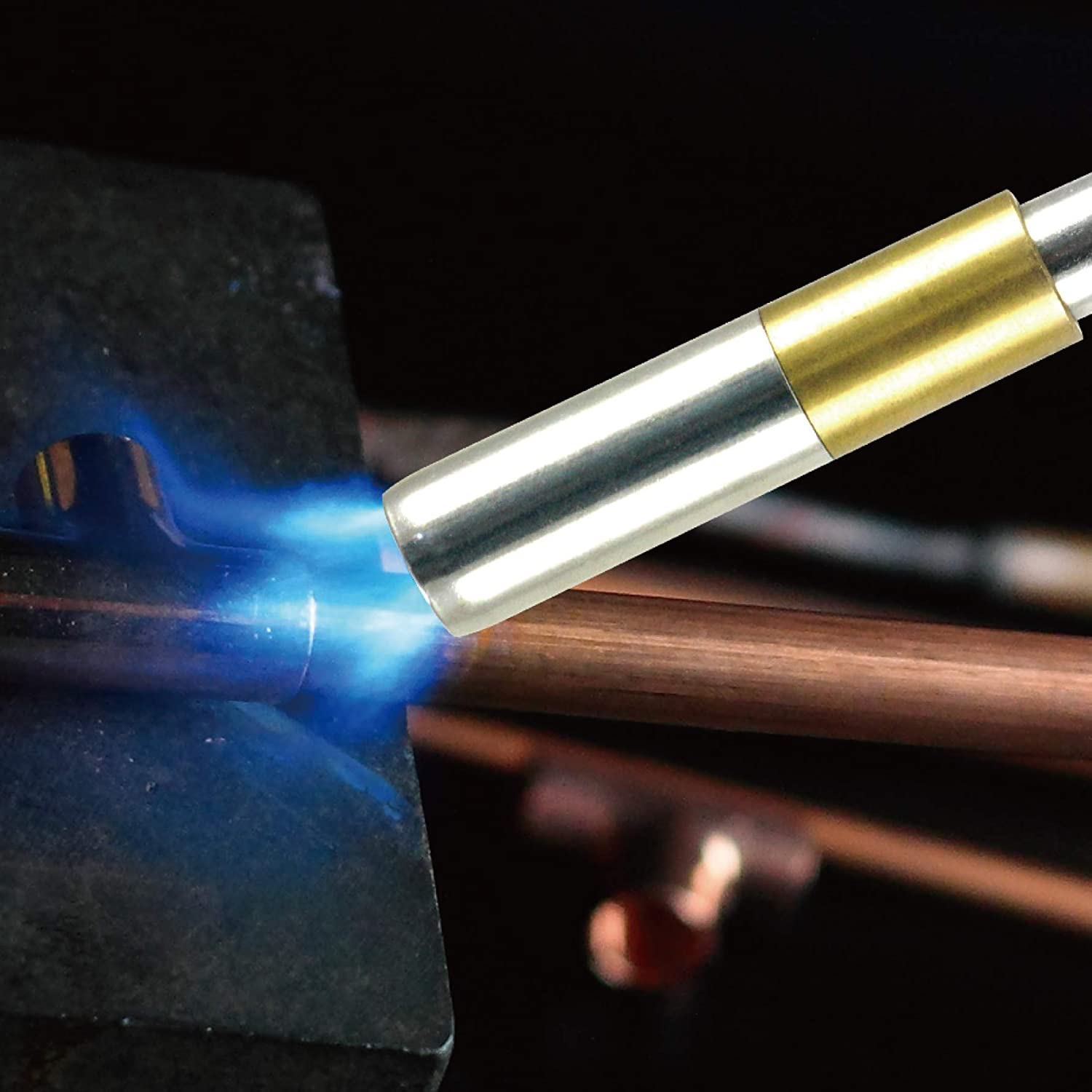 BLUEFIRE HZ-8394 Trigger Start 3 Hose Gas Welding Torch Replaceable Super Swirl Flame Tip Propane Fuel by MAPP MAP Pro