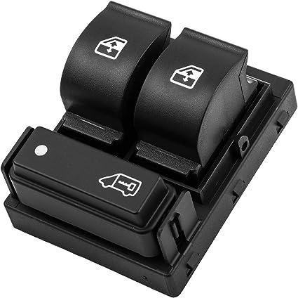 AERZETIX Interrupteur bouton l/ève-vitres compatible 6490.X8 6490.X9 6554.XN pour auto voiture C18713