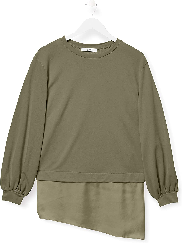 find Marque Sweat-Shirt avec Ourlet Long en Satin Femme