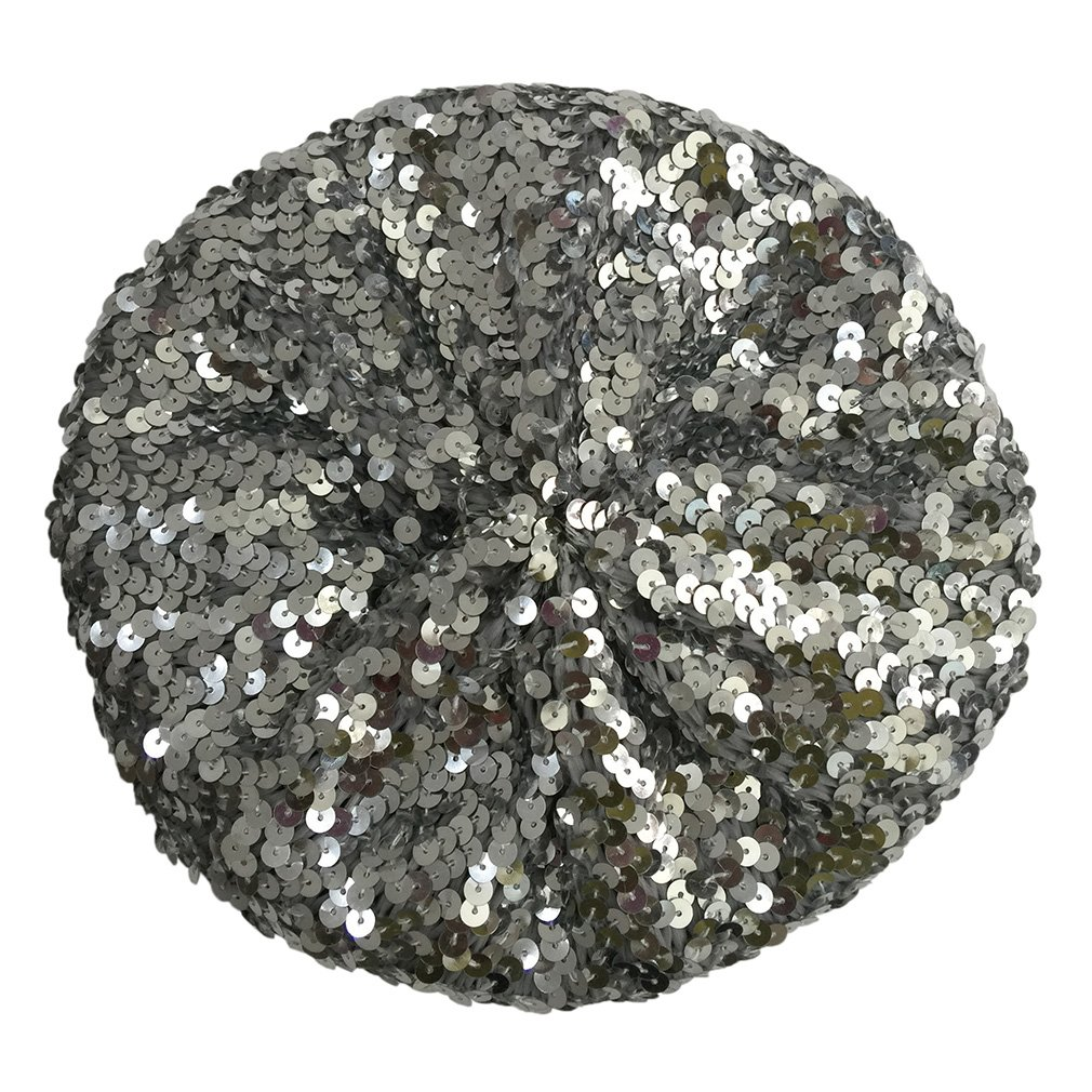 Bigood Sparkle Sequine Adjustable Beanie Beret Hat Dancing Tam Cap Silver