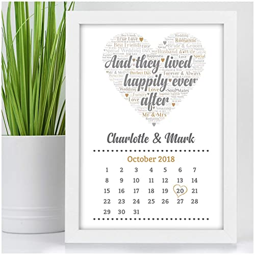 Personalised Wedding Gifts For Bride Groom And They Lived Happily