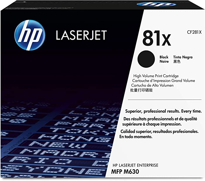 HP 81X | CF281X | Toner Cartridge | Black | High Yield