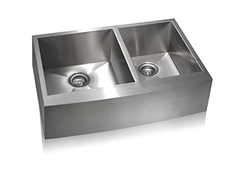 Lenova SS-AP-D33 Apron Stainless Steel Unequal Double Bowl Under ...