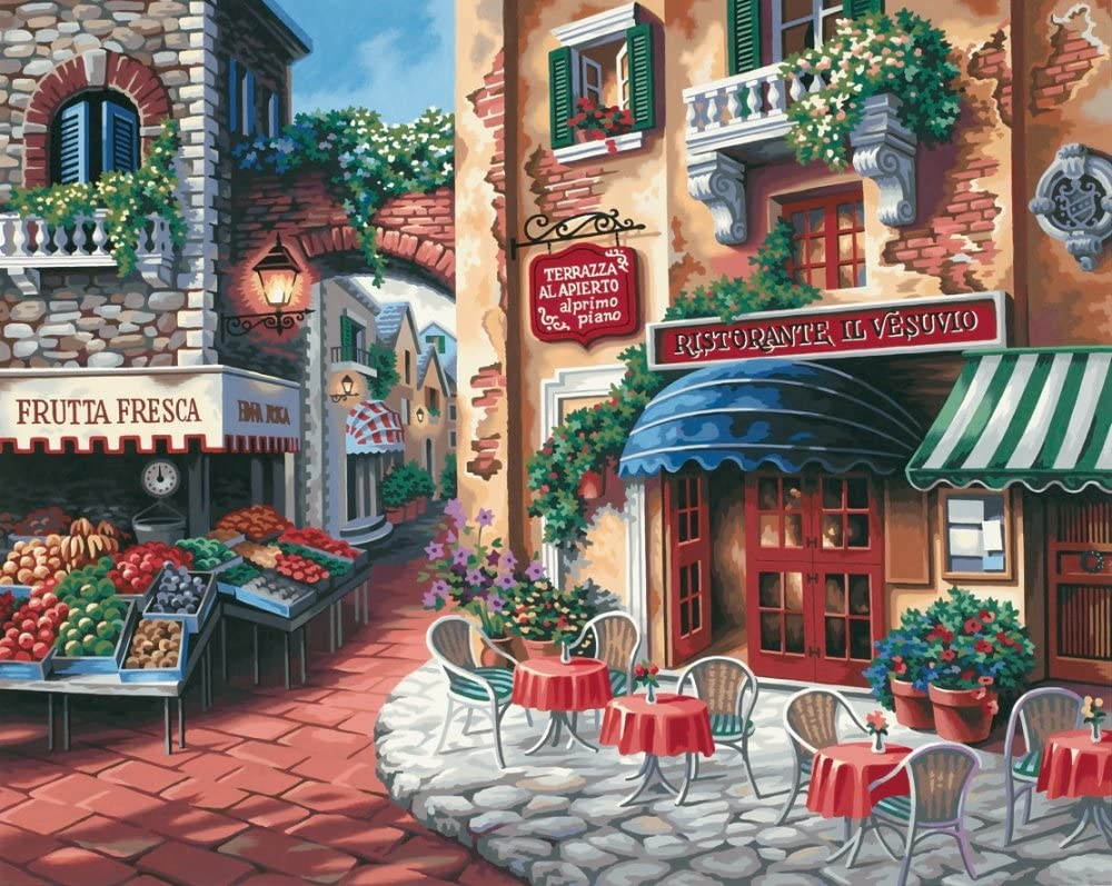 Dimensions Taste Of Italy Paint By Numbers For Adults 20 W X 16 L