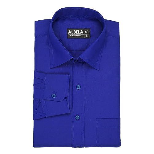 albela mens formal shirt blue