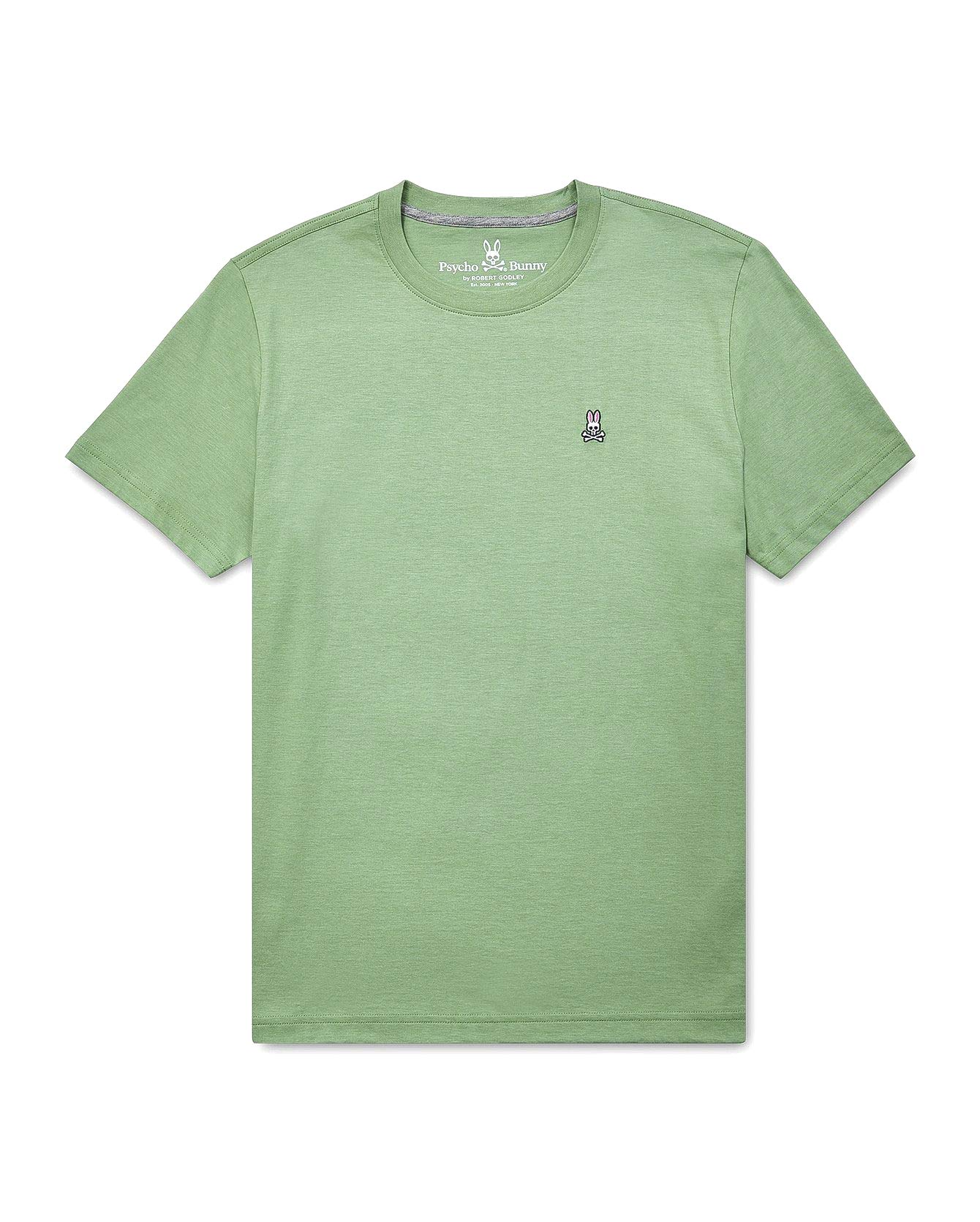 Psycho Bunny Men's Crew Neck T-Shirt, Sage, X-Large
