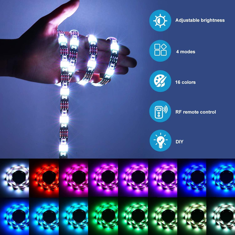 Clase deficiencia energ/ética A++ Kohree Tira LED TV 2X50M Tiras LED USB Impermeable con Control Remoto 16RGB Colores 4 Modo Retroiluminacion LED TV para Cine en Casa HDTV//PC Monitor 40-60 Pulgada