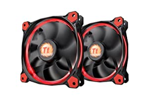 Thermaltake RIING 120mm RED LED Ultra Quiet Computer Case Fan