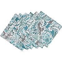 GURU JEE Cotton Cloth Napkins Dinner Napkin Printed Cotton Napkin Wahable Reusable Durable Cotton Napkins Set of 6 18x18…