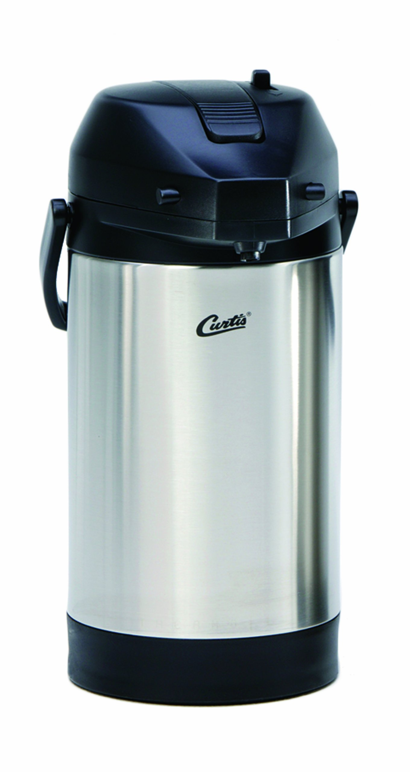Wilbur Curtis Thermal Dispenser Air Pot, 3.0L S.S. Body S.S. Liner Lever Pump - Commercial Airpot Pourpot Beverage Dispenser - TLXA3001S000 (Each) by Wilbur Curtis