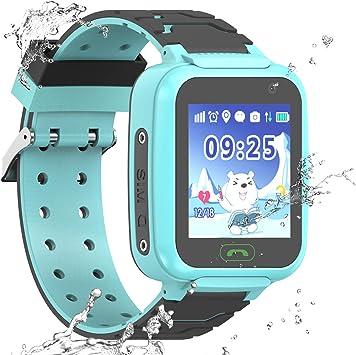 PTHTECHUS Reloj Inteligente a Prueba de Agua GPS Tracker para ...