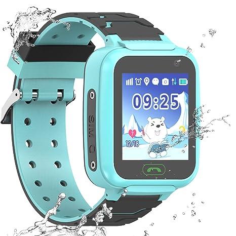 Reloj Inteligente a Prueba de Agua GPS Tracker para niños: Amazon.es: Electrónica