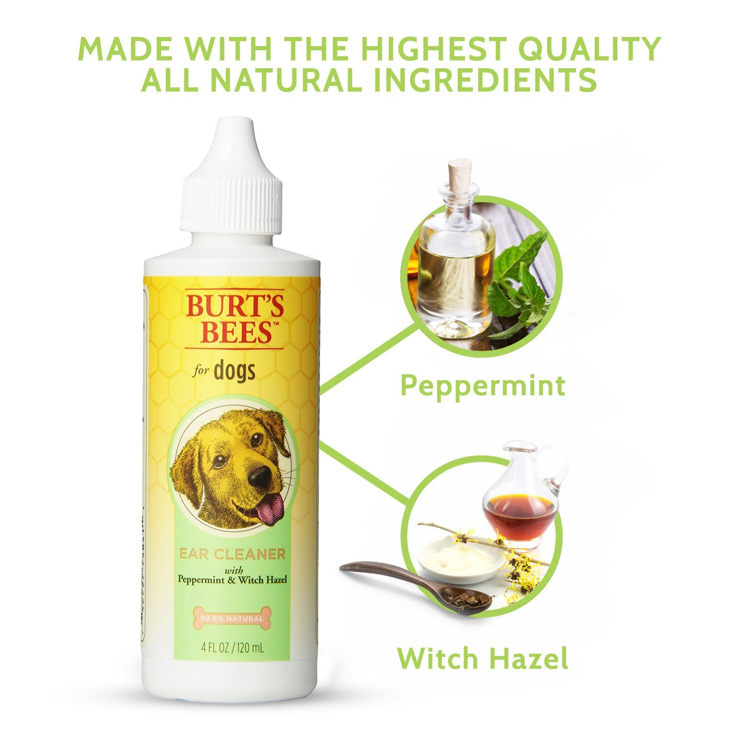 Amazon Burts Bees for Dogs Ear Cleaner with Peppermint and