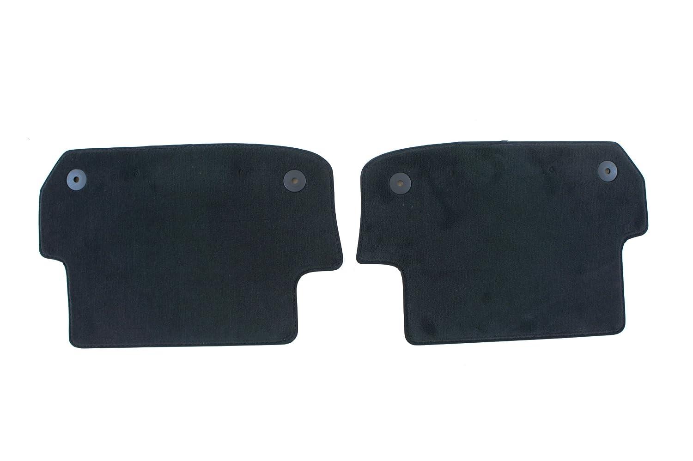 Genuine Audi Accessories 8H0061326E90G Sabre Black Rear Carpeted Floor Mat, Set of 2