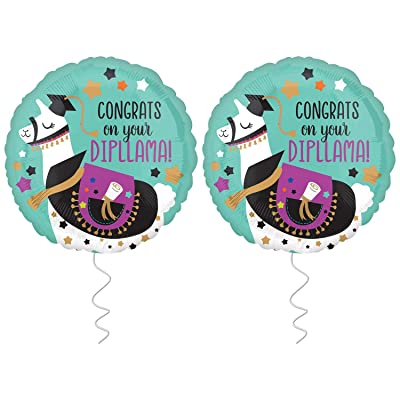 Graduation Balloon for Grad Party - Pack of 2 | 2020 Congrats Graduation Balloon |Foil Mylar Graduation Helium Balloons for Graduation Party Supplies 2020 |Nursing Graduation Balloons Decorations 2020: Toys & Games