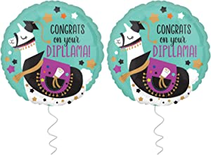 Graduation Balloon for Grad Party - Pack of 2 | 2020 Congrats Graduation Balloon |Foil Mylar Graduation Helium Balloons for Graduation Party Supplies 2020 |Nursing Graduation Balloons Decorations 2020
