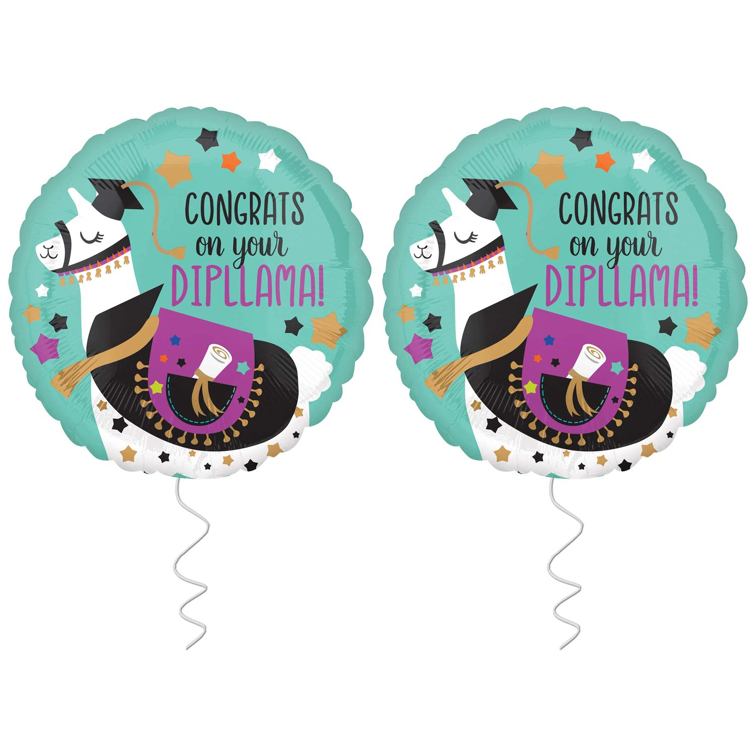 Graduation Balloon for Grad Party Congrats on Your Diploma Graduation Balloons Foil Mylar Graduation Helium Balloons for Graduation Party Supplies 2019 Graduation Decorations 2019 Pack of 2