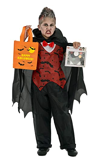 Amazon.com: Traje para Halloween - Vampiro, rojo, negro ...