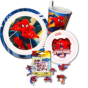 Spiderman Dinnerware Set - Plate Bowl Cup  sc 1 st  Amazon.com & Amazon.com : Spiderman Dinnerware Set - Plate Bowl Cup : Baby