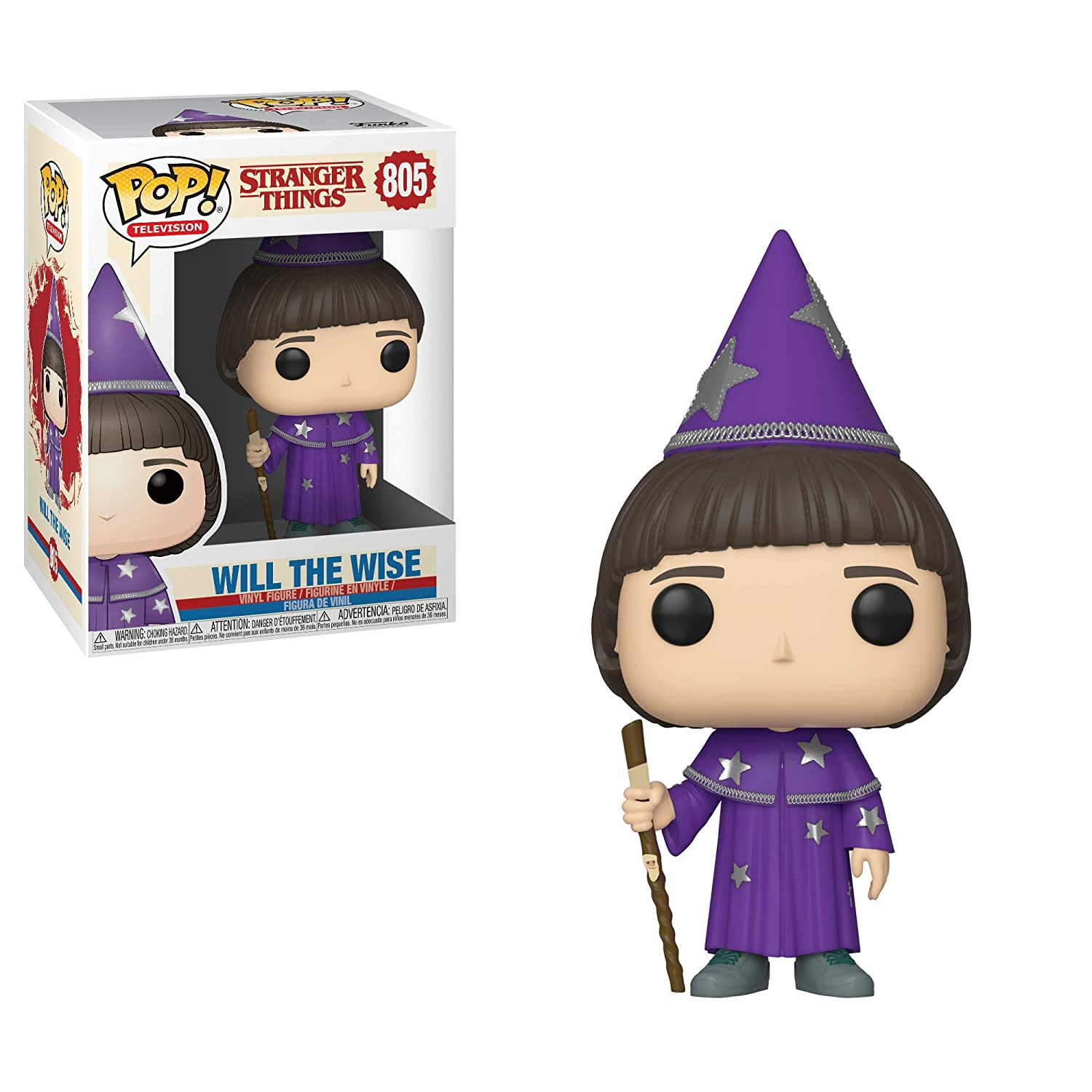 Funko- Pop Vinilo: Stranger Things: Will (The Wise) Figura Coleccionable, Multicolor (38533)