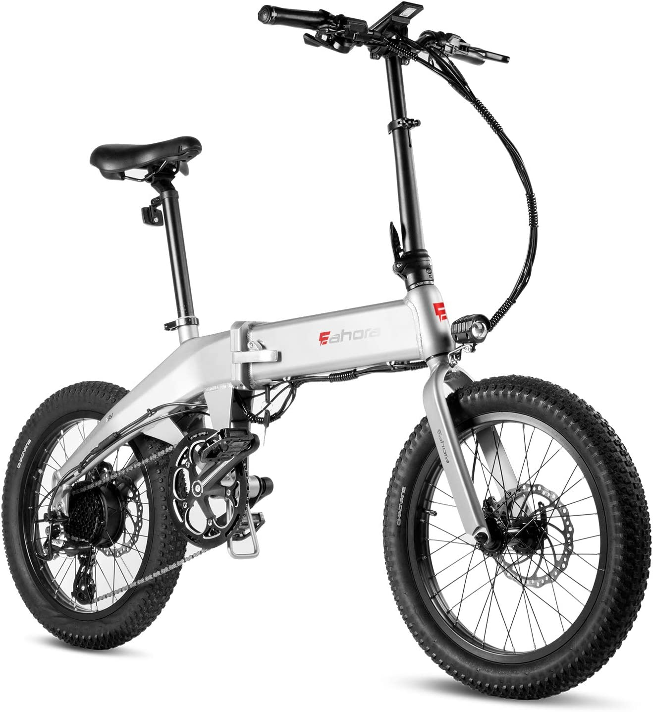 Eahora X6 20-inch Folding Electric Bicycle 48V 13Ah Electric Bike Removable Lithium-ion Battery 350W City Commuter Ebike for Adults E-PAS Recharge System 8 Speed
