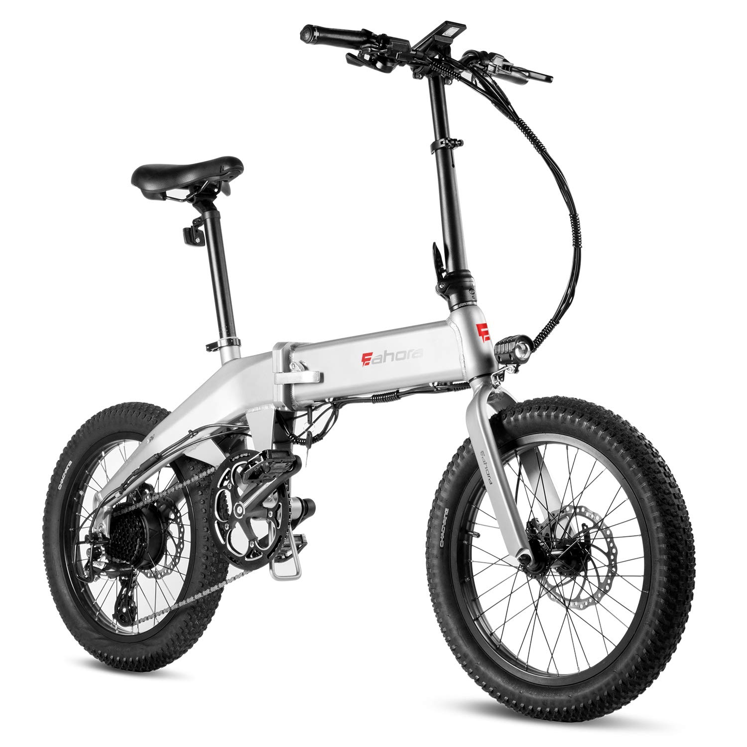 Eahora X6 20-inch Folding Electric Bike E-PAS Recharge System 8 Speed, 48V 13Ah Lithium Battery 350W Motor Electric Bicycle for Adults